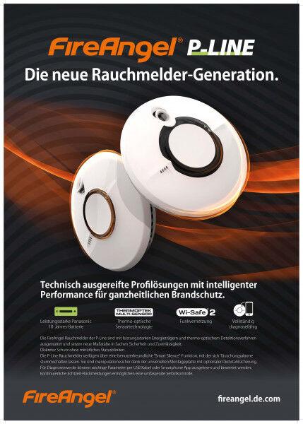 Poster A2 FireAngel Rauchmelder der P-Line Generation